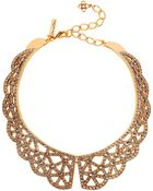Oscar de la Renta Gold-Plated Crystal Necklace - Lyst