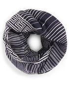 Tory Burch Striped Merino Infinity Scarf - Lyst