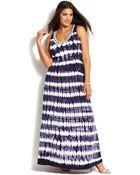 Inc International Concepts Plus Size Embellished Tiedye Maxi Dress - Lyst