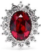 Kenneth Jay Lane Ruby Crystal Ring - Lyst