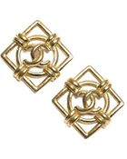 Chanel Pre-Owned Vintage Clip On Earrings - Lyst