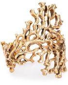 Oscar de la Renta Russian Gold Coral Branch Bracelet - Lyst