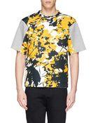 Marni Ink Splash Print Bonded Jersey T-Shirt - Lyst