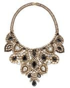 Aerin Erickson Beamon Crystal and Jet Black Stone Bib Necklace - Lyst