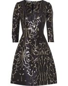 Oscar de la Renta Metallic Jacquard Dress - Lyst