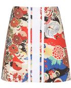 Carven Printed Skirt - Lyst