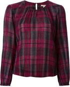 Burberry Brit Checked Blouse - Lyst