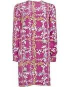 Matthew Williamson Fantasy Plaid Printed Silk Shift Dress - Lyst
