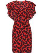 Saint Laurent Printed Silk Dress - Lyst