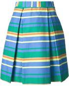 P.A.R.O.S.H. Block Stripe A-Line Skirt - Lyst