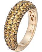 John Hardy Gold Classic Chain Yellow Sapphire Slim Dome Ring - Lyst