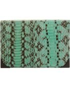 Alexander Wang Green Python Prisma Wallet - Lyst
