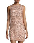 Aidan Mattox Beaded Sequin Lace Sheath Dress - Lyst