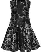 Giambattista Valli Leopard Jacquard Mini Dress - Lyst