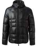 Emporio Armani Hooded Short Coat - Lyst