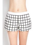 Forever 21 Faux Leather Grid Shorts - Lyst