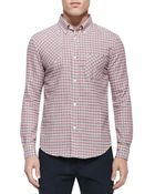 Band Of Outsiders Check Patch Woven Shirt - Lyst