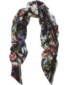 McQ by Alexander McQueen Festive Floral Printed Modal Scarf - Lyst