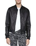 Rag & Bone Leather Zipfront Jacket - Lyst