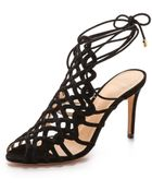 Alexandre Birman Suede Woven Sandals - Black - Lyst
