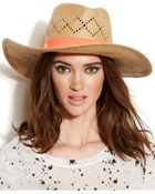 Vince Camuto Diamond Wide Brim Hat With Ribbon Trim - Lyst