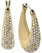 Michael Kors Crystal Pavé Wide Hoop Earrings - Lyst