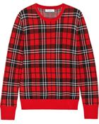 Equipment Shane Plaid Wool Sweater - Lyst