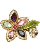 Jay Strongwater Elise Mini Flower Tack Pin - Lyst