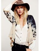 Free People Womens Top Down Embellished Jacket - Lyst