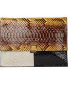Proenza Schouler Colorblock Python Large Lunch Bag - Lyst