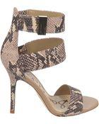 Sam Edelman Addie Snake-Printed High-Heel Sandals - Lyst