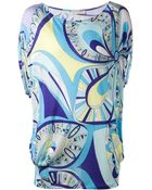 Emilio Pucci Psychedelic Print Top - Lyst