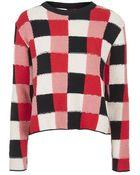 Topshop Crochet Blanket Jumper By Boutique - Lyst