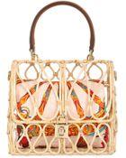 Dolce & Gabbana Dolce Bag Rattan Top Handle Bag - Lyst