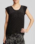 Rebecca Taylor Top - Cap Sleeve Studded Silk - Lyst