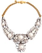 Shourouk Apolonia Crystal Pearl and Enamel Beaded Necklace - Lyst