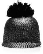 Federica Moretti Pom Pom Straw Hat - Lyst