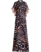 Issa Embellished Silk Maxi Dress - Lyst