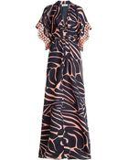 Issa Embellished Silk Maxi Dress - Lyst
