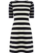 Karen Millen Graphic Stripe Dress - Lyst
