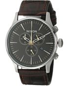 Nixon The Sentry Chrono Leather - Lyst