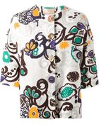 Erika Cavallini Semi Couture Printed Short Sleeve Jacket - Lyst