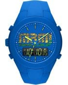 Marc By Marc Jacobs Mens Analogdigital Xup Blue Silicone Strap Watch 47mm - Lyst