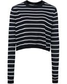 Tibi Knitted Cropped Jumper - Lyst