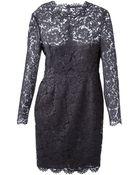 Valentino Lace Sheath Dress - Lyst