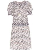 Tory Burch Polly Embroidered Cotton Dress - Lyst