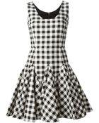 Dolce & Gabbana Check Flared Dress - Lyst