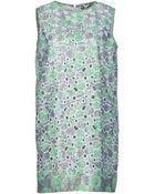 MSGM Sleeveless Printed Dress - Lyst