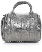 Alexander Wang Rockie Carbon Metallic Bowling Bag - Lyst