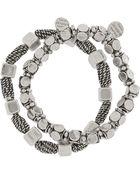Philippe Audibert Set Of Two Pewterplated Bracelets - Lyst